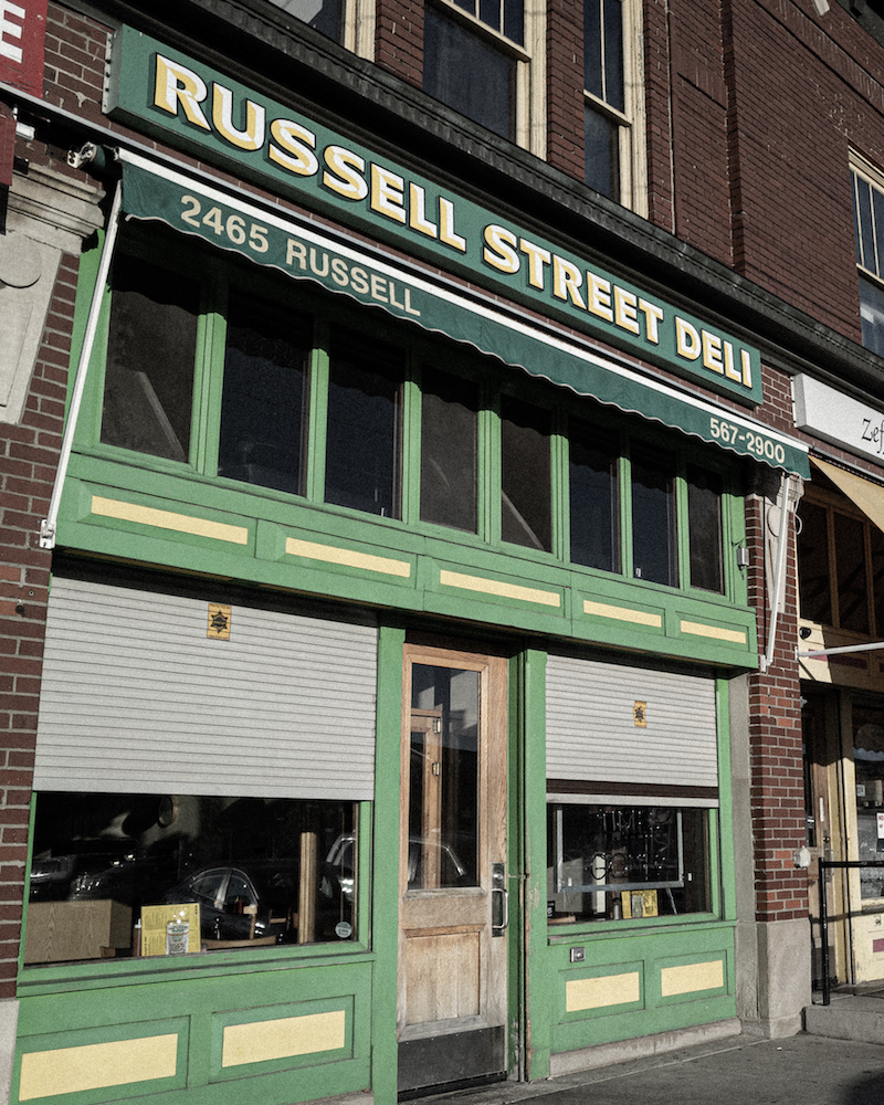 The front of Russell Street Deli in Eastern Market Detroit